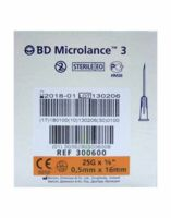 BD MICROLANCE 3, G25 5/8, 0,5 mm x 16 mm, orange  à Espaly-Saint-Marcel