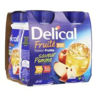 DELICAL BOISSON FRUITEE Nutriment pomme 4Bouteilles/200ml à Espaly-Saint-Marcel