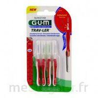 GUM TRAV - LER, 0,8 mm, manche rouge , blister 4 à Espaly-Saint-Marcel