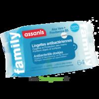 Assanis Family Lingette antibactérien mains Pochette/64 à Espaly-Saint-Marcel