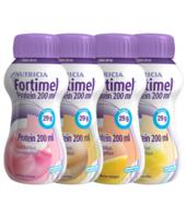 Fortimel Protein Nutriment Multi Saveurs Caramel/vanille/fraise/mangue 4 Bouteilles/200ml à Espaly-Saint-Marcel